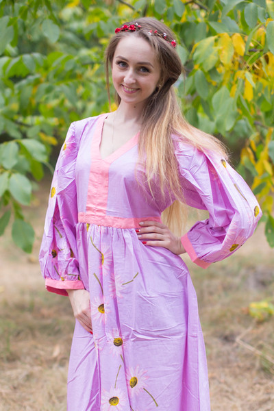 """My Peasant Dress"" kaftan in Falling Daisies pattern"