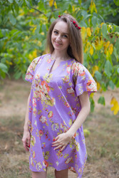 """Sunshine"" Tunic Dress kaftan in Flower Rain pattern"