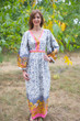 """My Peasant Dress"" kaftan in Falling Leaves pattern"