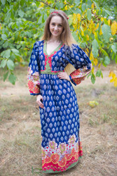 """My Peasant Dress"" kaftan in Floral Bordered pattern"