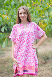 """Sunshine"" Tunic Dress kaftan in Geometric Chevron pattern"