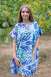 """Sunshine"" Tunic Dress kaftan in Ikat Aztec pattern"