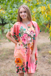 """Sunshine"" Tunic Dress kaftan in Large Floral Blossom pattern"