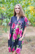 """Sunshine"" Tunic Dress kaftan in Large Fuchsia Floral Blossom pattern"