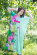 """Unfurl"" kaftan in Jungle of Flowers pattern"