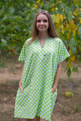 """Sunshine"" Tunic Dress kaftan in Polka Dots pattern"