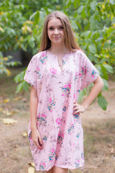 """Sunshine"" Tunic Dress kaftan in Romantic Florals pattern"