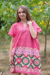 """Sunshine"" Tunic Dress kaftan in Round and Round pattern"