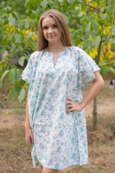 """Sunshine"" Tunic Dress kaftan in Tiny Blossoms pattern"
