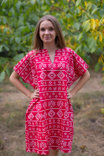 """Sunshine"" Tunic Dress kaftan in Tribal Aztec pattern"