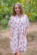 """Sunshine"" Tunic Dress kaftan in Vintage Chic Floral pattern"