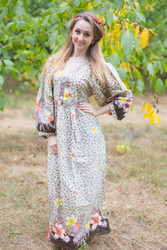 """My Peasant Dress"" kaftan in Fun Leopard  pattern"