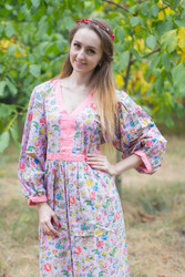 """My Peasant Dress"" kaftan in Happy Flowers pattern"