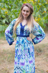 """My Peasant Dress"" kaftan in Ikat Aztec pattern"