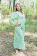 """My Peasant Dress"" kaftan in Ombre Fading Leaves pattern"