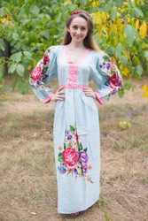 """My Peasant Dress"" kaftan in One Long Flower pattern"