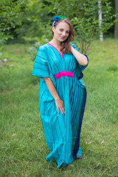 """Unfurl"" kaftan in Multicolored Stripes pattern"
