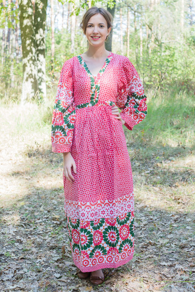 """My Peasant Dress"" kaftan in Round and Round pattern"