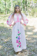 """My Peasant Dress"" kaftan in Swirly Floral Vine pattern"