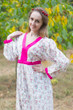 """My Peasant Dress"" kaftan in Tiny Blossoms pattern"