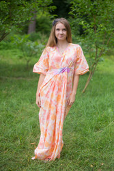 """Unfurl"" kaftan in Ombre Fading Leaves pattern"