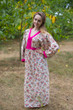 """My Peasant Dress"" kaftan in Vintage Chic Floral pattern"