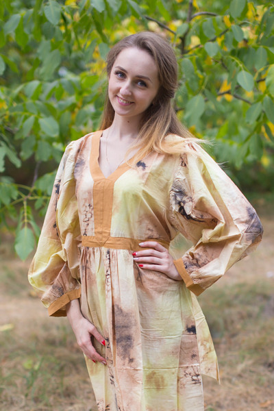"""My Peasant Dress"" kaftan in Watercolor Splash pattern"
