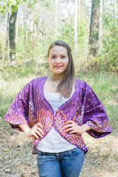 """""""Fly towards Glory"""" Kimono jacket in Abstract Floral pattern"""
