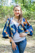 """Fly towards Glory"" Kimono jacket in Butterfly Baby pattern"