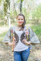 """Fly towards Glory"" Kimono jacket in Fun Leopard pattern"