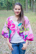 """Fly towards Glory"" Kimono jacket in Jungle of Flowers pattern"
