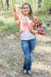 """Fly towards Glory"" Kimono jacket in Large Floral Blossom pattern"