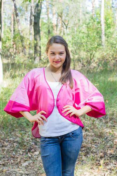 """Fly towards Glory"" Kimono jacket in Ombre TieDye pattern"