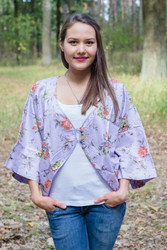 """Fly towards Glory"" Kimono jacket in Romantic Florals pattern"