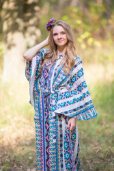 """Oriental Delight"" kaftan in Aztec Geometric pattern"