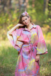 """Oriental Delight"" kaftan in Batik Watercolor pattern"