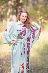 """Oriental Delight"" kaftan in Big Butterfly pattern"