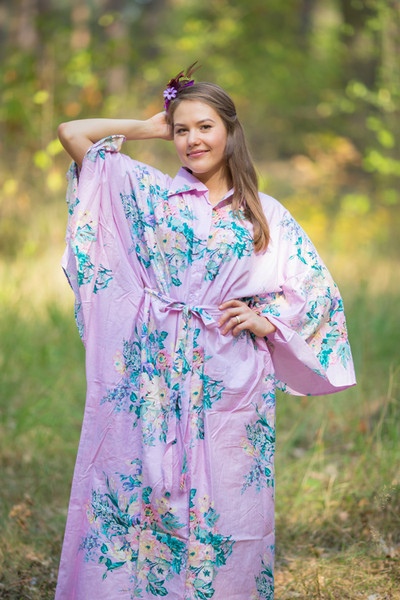 """Oriental Delight"" kaftan in Blooming Flowers pattern"