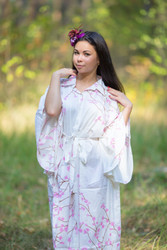 """Oriental Delight"" kaftan in Cherry Blossoms pattern"