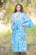 """Oriental Delight"" kaftan in Chevron Dots pattern"