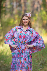 """Oriental Delight"" kaftan in Cute Bows pattern"