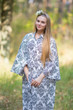 """Oriental Delight"" kaftan in Damask pattern"