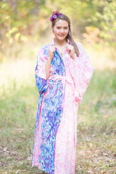 """Oriental Delight"" kaftan in Falling Leaves pattern"