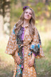 """Oriental Delight"" kaftan in Floral Bordered pattern"