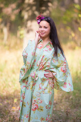 """Oriental Delight"" kaftan in Flower Rain pattern"