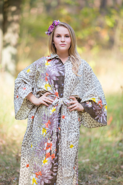 """Oriental Delight"" kaftan in Fun Leopard pattern"