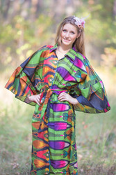 """Oriental Delight"" kaftan in Glowing Flame pattern"
