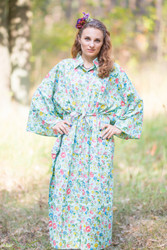 """Oriental Delight"" kaftan in Happy Flowers pattern"