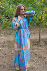 """Shape Me Pretty"" kaftan in Batik Watercolor pattern"