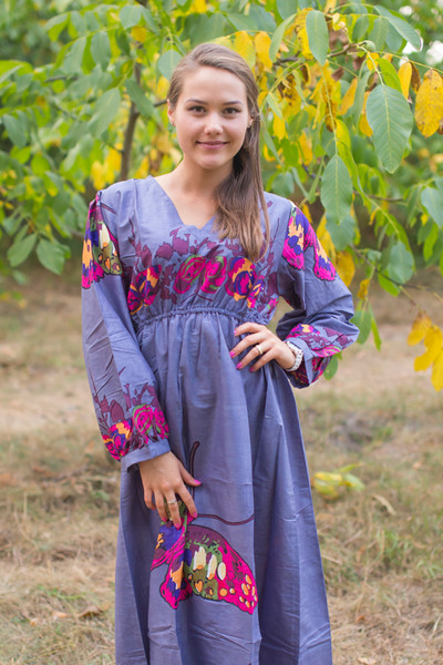 """Shape Me Pretty"" kaftan in Big Butterfly pattern"